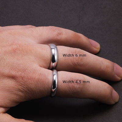 Real Pure 925 Sterling Silver Rings For Women And Men Simple Couple Ring Smooth Wedding Band For Lovers