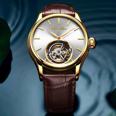 Tourbillon Watch GUANQIN Original watch Skeleton mechanical Sapphire Mens Watches Top Brand Luxury clock men Relogio Masculino FREE SHIPPING WORLD WIDE 6-10 DAYS