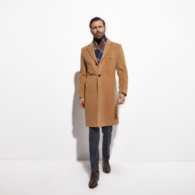 2020 Winter Fashion Camel Color Topcoat Custom Made Heavy Warm Wool Blend Tailored Slim Fashion Golden Trench Coat FREE SHIPPING 5-11 DAYS