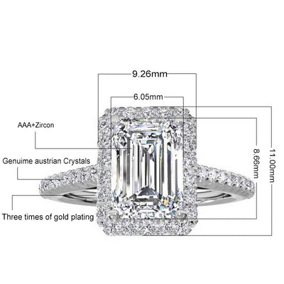 925 sterling Silver Engagement wedding Rings for Women ring set band finger promise Jewelry blue bridal personalized R1997