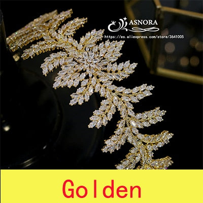 Luxury new wedding crown CZ headdress bride headband hair accessories wedding dress with accessories