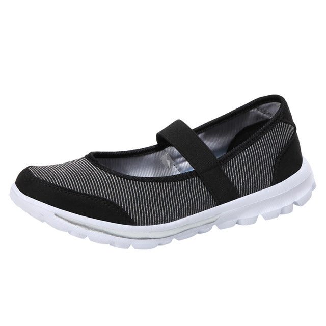 Women Falt Casual Sneakers Fitness Shoes Non Slip Breathable Shoes Slip-on Design