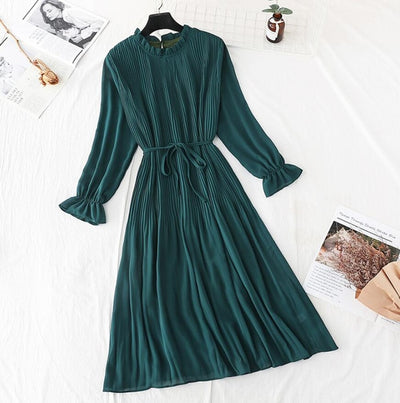 Dress Female Casual Flare Sleeve Office