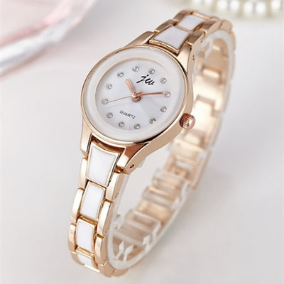 New Fashion Rhinestone Watches Women Luxury Stainless Steel Quartz Watch Women Dress Bracelet Watches Ladies Clock relojes 2018