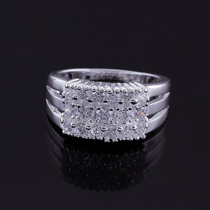 2016 new Wholesale 925 jewelry silver plated ring for women, silver fashion jewelry, multi-stone Ring /fdganuna gpmapgta R143