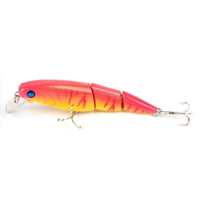 1PCS Jointed Fishing lure 10.5CM/15G Minnow plastic artificial fishing wobbler tools jerk fish esca tackle