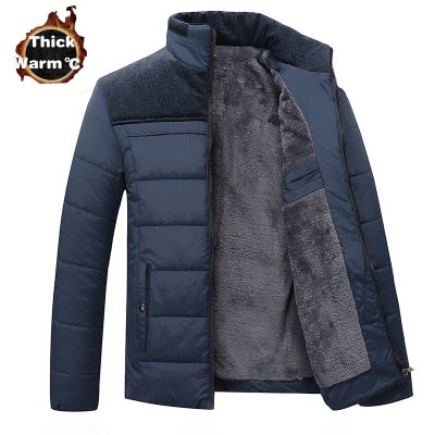 Winter Brand Men  Jacket Fur Hood With Cashmere Plus Size 4XL Winter Jacket High Quality Fashion Men's Coat Hot Sale