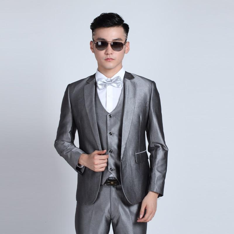(Jacket + Pants) Fashion Men Business Suits Slim Men's Suits Brand Clothing Wedding Suits For Men Latest Coat Pant Designs