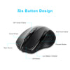 TeckNet Pro 2.4GHz Wireless Mouse Nano Receiver Ergonomic Mice 6 Buttons 2400DPI 5 Adjustment Levels for Computer Laptop Desktop