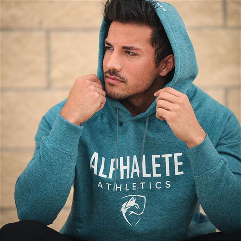 2018 New Fashion Brand Men Cotton Fleece Hoodies Gyms Fitness Bodybuilding Sweatshirt Pullover Sportswear Male Casual Clothing