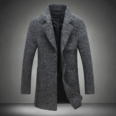 d442e0fb30c M-5XL 2017 New Fashion Long Trench Coat Men Winter Mens Overcoat 40% Wool  Thick Pea Trench Coat Male Jacket