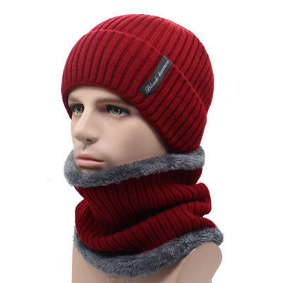 chicmaxonlineWinter Beanies Men Scarf Knitted Hat Caps Mask Gorras Bonnet Warm Baggy Winter Hats For Men Women Skullies Beanies Hats