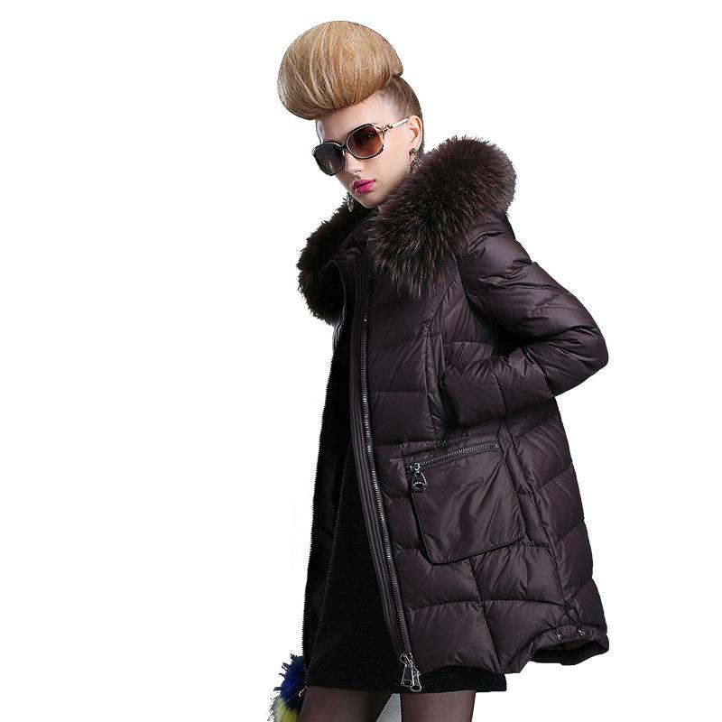 527b1e86b9d SKINNWILLE In the 2017 long white duck down coats Female long even the -  chicmaxonline