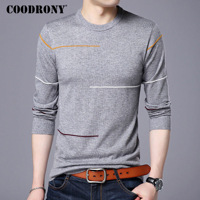 4660a545 COODRONY Cashmere Wool Sweater Men Brand Clothing 2017 Autumn Winter New  Arrival Slim Warm Sweaters O-Neck Pullover Men Top 7137