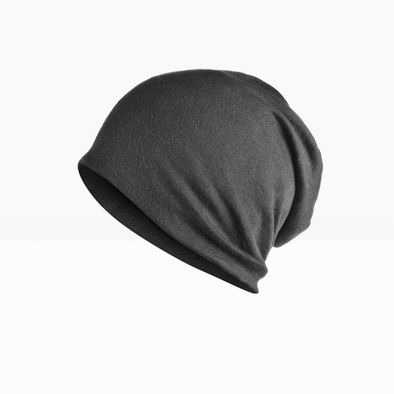 Brand NUZADA Solid Color Unisex Men Women Skullies Beanies Hedging Cap Knit Knitted Cotton Double Layer Fabric Caps Bonnet Hat