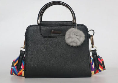 cf7291c1cc0e Hot sale handbag women casual tote bag female large shoulder messenger bags  high quality PU leather handbag with fur ball bolsa