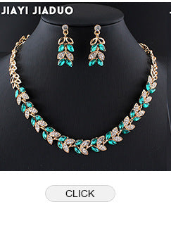 Jiayijiaduo African Wedding Jewelry Dubai Gold Color Jewelry Sets Romantic Color Design Jewelry Sets Necklace Drop Shipping