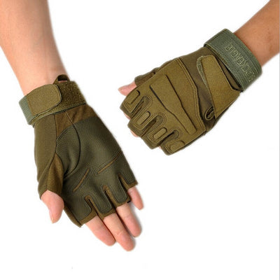 High Quality Black Hawk Military Tactical Gloves Men Fighting Combat Half Finger Anti-slip Gloves