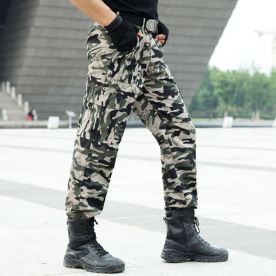 Men's Outdoor Tactical Cargo Pants Commandos Combat Army Military Overalls Camouflage Pants Climbing Trousers for Hiking Hunting