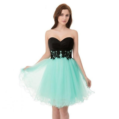 Cheap Short Cocktail Dresses Under 50 Sexy Mini Tulle Corset Lace Back to School Graduation For Girls 2019 Homecoming Party Gown