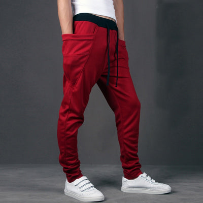 Casual Men Pants Unique Big Pocket Hip Hop Harem Pants Quality Outwear Sweatpants Casual Mens Joggers TOP HERE Men's Trousers