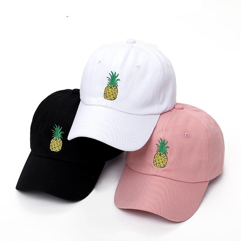 170eefbf47508 VORON men women Pineapple Dad Hat Baseball Cap Polo Style Unconstructed  Fashion Unisex Dad cap hats