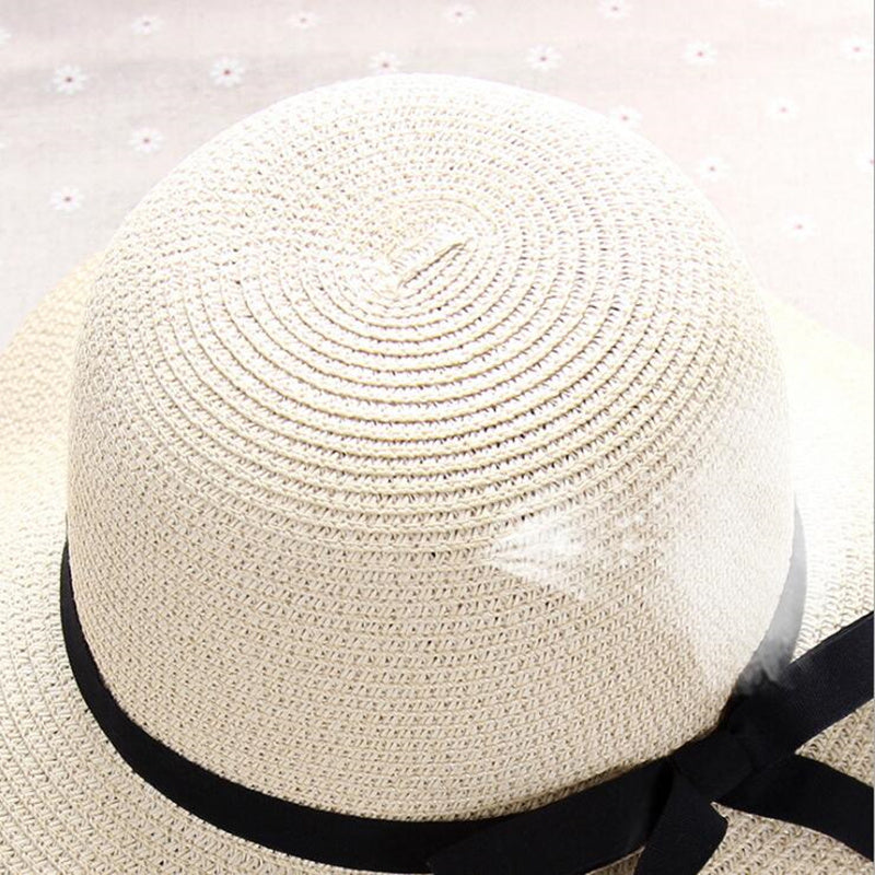 cb453fa68 summer straw hat women big wide brim beach hat sun hat foldable sun block  UV protection panama hat bone chapeu feminino