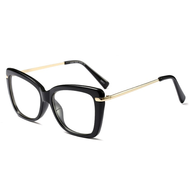 Women Eyeglasses Computer Myopia Optical For Female Vintage Ladies Eyewear Clear Lens