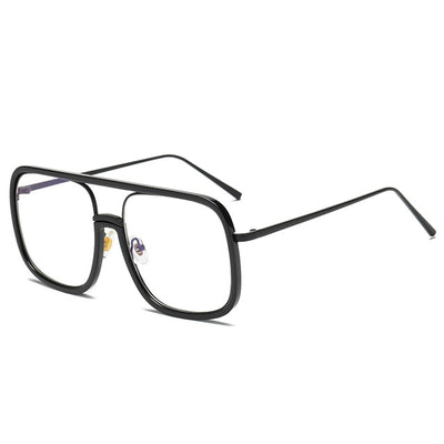 VCKA Anti Blue light Glasses Frame women Oversized metal frame Goggles Radiation-resistant Square Computer men Gaming Eyewear