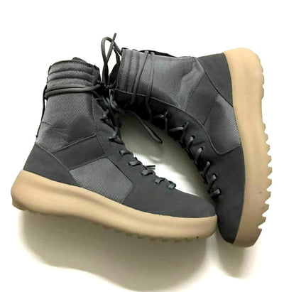 Micholediys Handmade New Arrival Mens Botas All-matching Nubuck Leather Hiking Sneakers Platform Military Jungle Boots