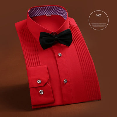 New Arrival High Quality Brand Mens Clothes French Style Wedding Tuxedo Shirt Mens Dress