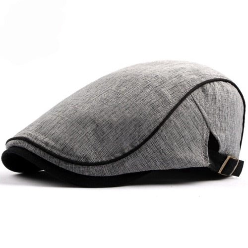HT1578 2018 New Spring Summer Men Women Hat Fashion Western Style Duckbill Ivy Flat Cap Hat Adjustable Cotton Newsboy Beret Cap