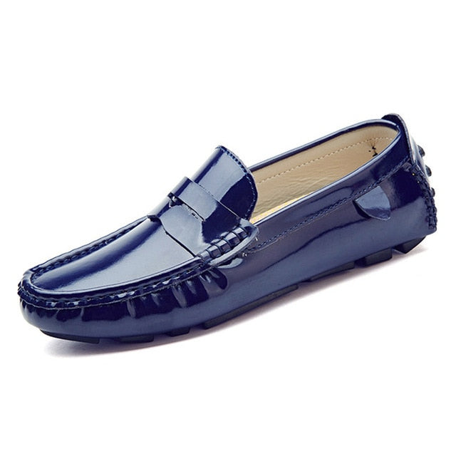 MIXIDELAI men penny loafers patent leather moccasins burgundy size 47 46 45 driving shoes men 12 11 10 9.5 leather loafers white