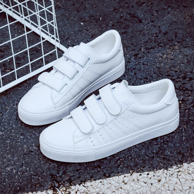 acb3bf3364 2018 summer new fashion women shoes casual high platform hole PU leather  striped simple women casual white shoes sneakers