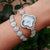 Good Qualtiy AAA Zircon Elements Leaf Austrian Crystal Bracelet Watch for Wedding Party Fashion Jewelry Made with  Wholesale
