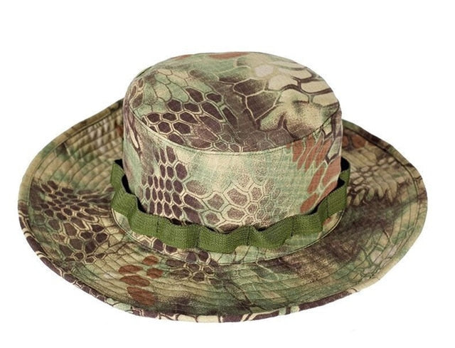 52a6f4b71daa2 Multicam Tactical Airsoft Sniper Camouflage Bucket Boonie Hats Nepalese Cap  SWAT Army American Military Accessories Summer