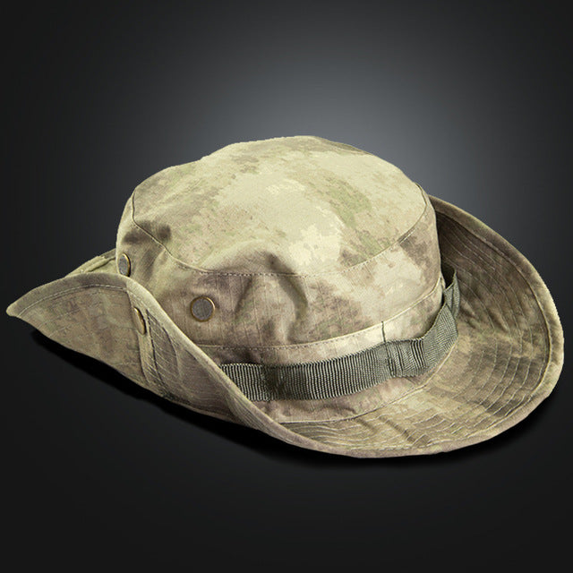 Multicam Tactical Airsoft Sniper Camouflage Bucket Boonie Hats Nepalese Cap SWAT Army American Military Accessories Summer Men