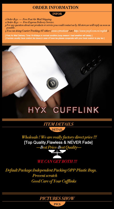 HYX Classic golden Tie Clips cufflinks set for Men High Quality Enamel Engrave Pattern Necktie Tie Bar link Clasp Brand Jewelry