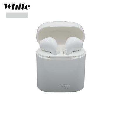 Free Shipping i7s Bluetooth Earbuds Wireless Headphones Headsets Stereo In-Ear Earphones With Charging Box for ios and Android