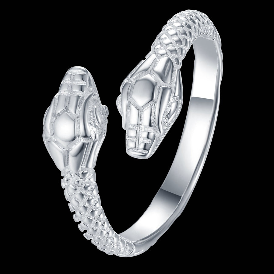 adjustable cool snake Wholesale 925 jewelry silver plated ring ,fashion jewelry Ring for Women, /MCAFQOMS CSDORTUS