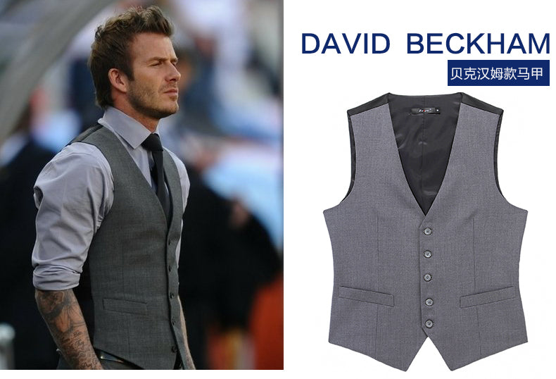 36f514baa6 New Wedding Dress High-quality Goods Cotton Men s Fashion Design Suit Vest    Grey Black