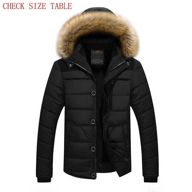 FIT -25 'C Brand Winter Jacket Men 2018 New Parka Coat Men Down Keep Warm Fashion M-4XL 5XL 6XL