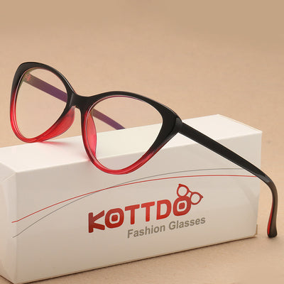 KOTTDO 2018 fashion Vintage Cat Eye Glasses Frame Eyeglasses Women Reading Glasses Optical Glasses for Unisex Eyewear UV400