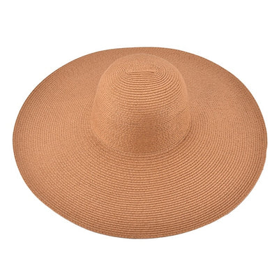 Huge Brim Sun Hats 7.1''/18cm Paper Straw Summer Hats for Womens Ladies UV Protect Floppy Beach Hats Kentucky Derby Party Dress