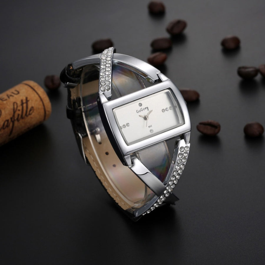Gogoey Women's Watches Luxury Rhinestone Bracelet Watch Women Watches Ladies Watch Clock zegarek damski reloj mujer montre femme
