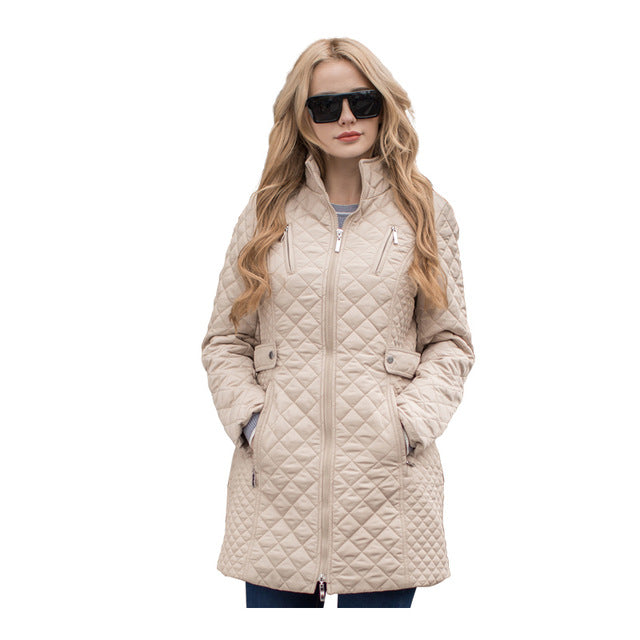 3340d394d MS VASSA Women Parkas Autumn Winter New Jackets Lady casual Padded Coat  Plus size 5XL 6XL long quilted female Oversize outerwear