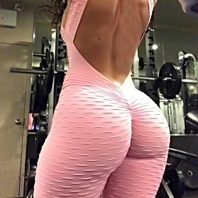 Sports Jumpsuits Backless Sportswear Fitness Tight Women's Tracksuits Sport Running Set Yoga Sets Workout