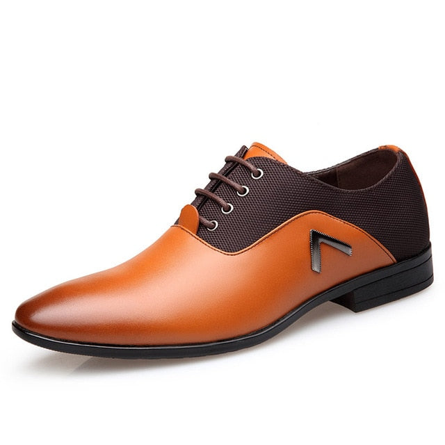 Men/'s Leather Oxfords European Style Dress Formal Business Casual Shoes LOT