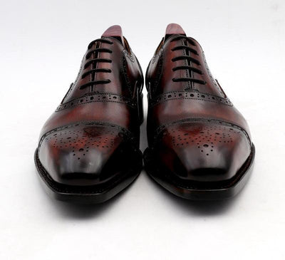 cie wedding shoes mens dress shoe patina wine dress shoe genuine calf leather outsole men suits formal leather handmade No.4