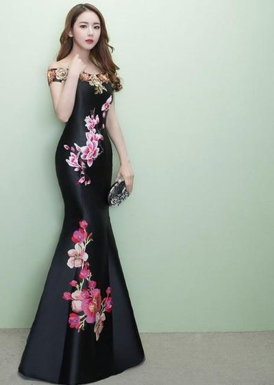 FADISTEE New arrival elegant prom party dress evening dresses  Robe De Soiree gown lace style trumpet flowers embroidery